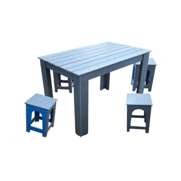 Set masa cu scaune pentru gradina Colectia Rustic PVC